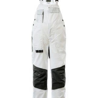 Delovne hlače SPEKTAR z oprsnikom bele