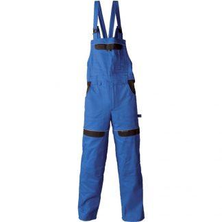 Delovne hlače COOL TREND z oprsnikom royal modre
