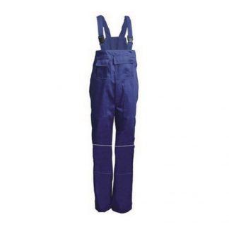 Delovne hlače ETNA z oprsnikom kobalt modra