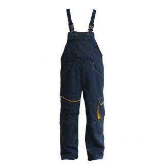 Delovne hlače ATLANTIC z oprsnikom modra