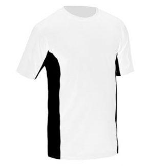 Majica CoolDry dvobarvna bela/črna