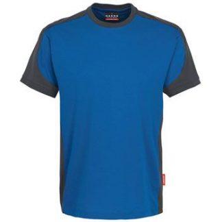 Majica HAKRO dvobarvna royal modra/ antracit