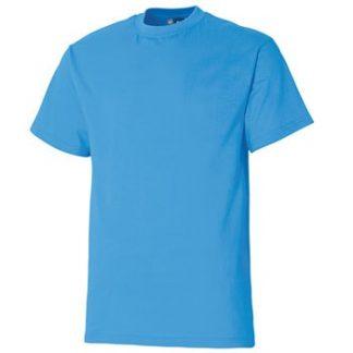 Majica Premium - kratki rokav azurno modra