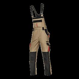 Harrison delovne hlače z oprsnikom kaki