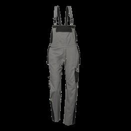Fusion delovne hlače z oprsnikom siva/črna