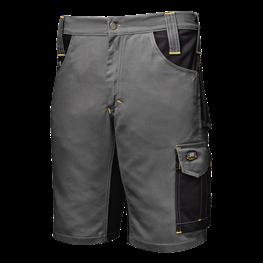 Fusion delovne bermuda hlače siva/črna